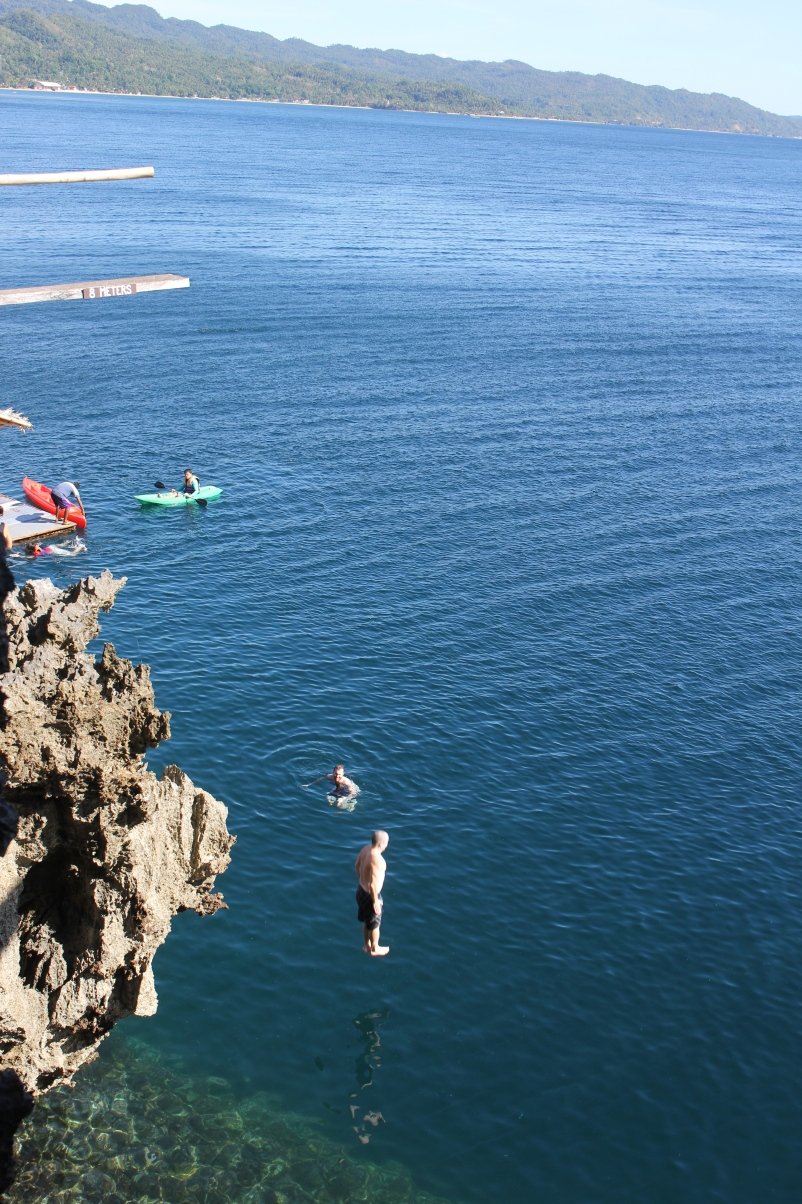One of Braden's jumps off the 8m at Ariel's Point