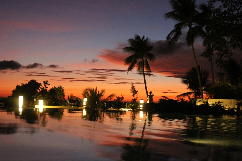 The view of the sunset from our resort on our last night in Boracay