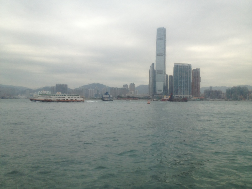 The view of the Kowloon side from the ferry