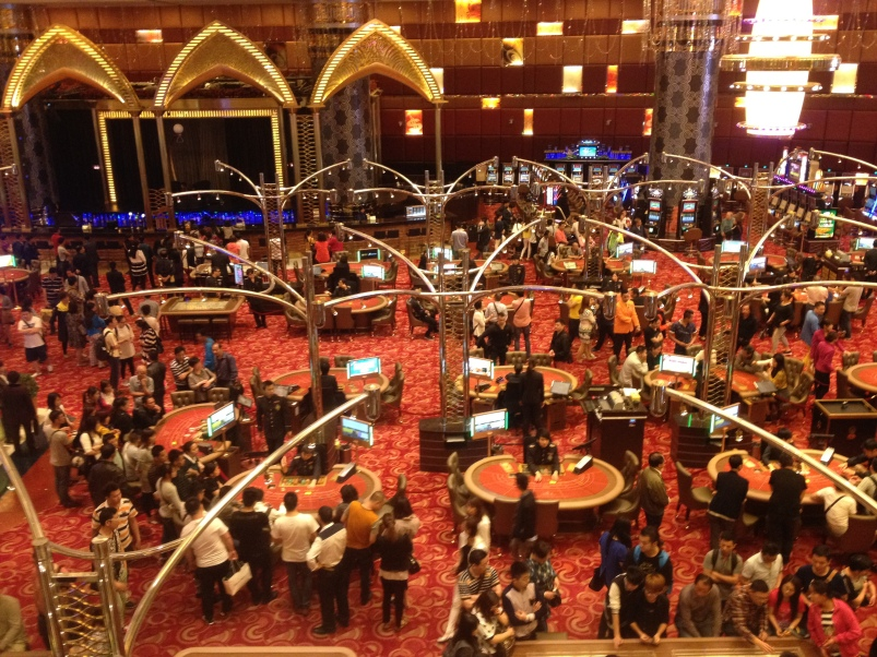 View of the casino floor at the Grand Lisboa