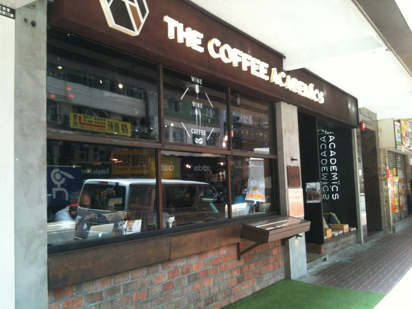 The Coffee Academic shopfront.