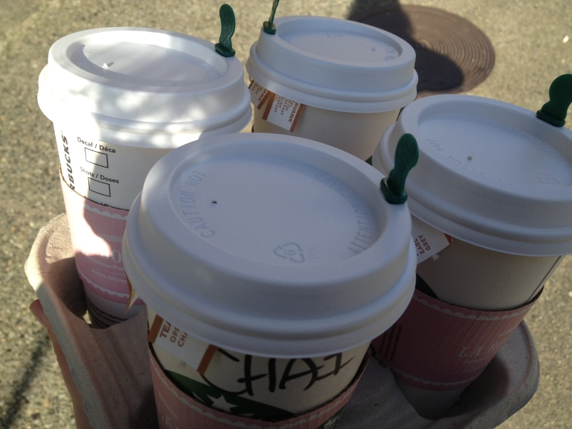 I'm sure buying coffees for the crew early in the morning didn't hurt the rapport we developed.