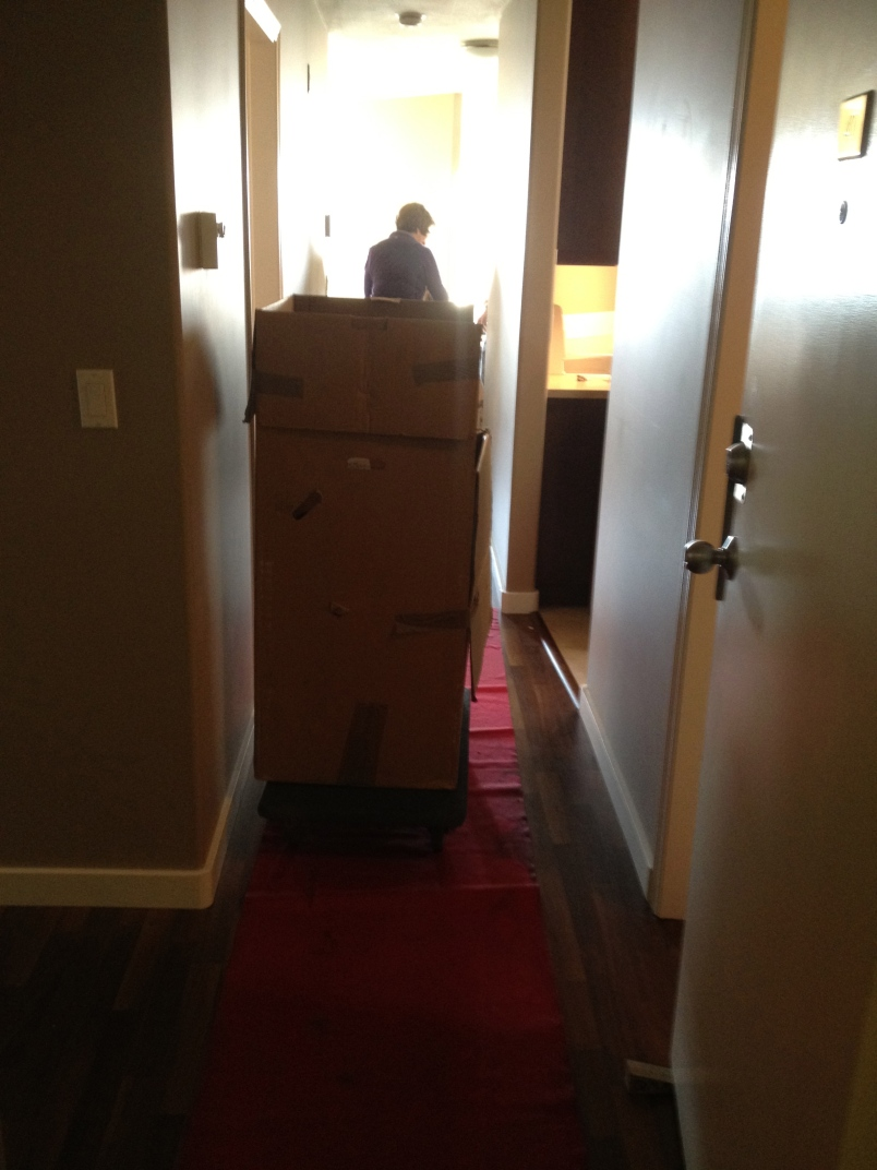 They had the red carpet rolled out for the move.