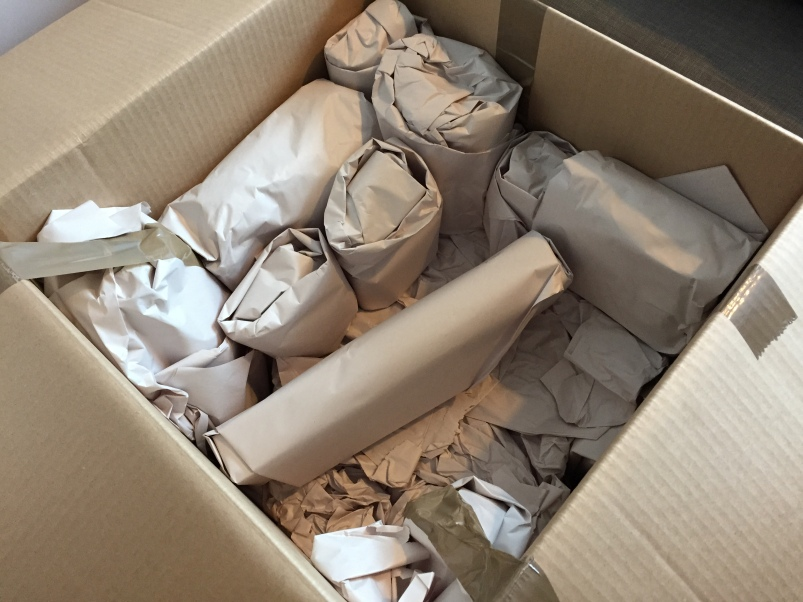 Look at all those little bundles. They were wrapped and shipped with such care.