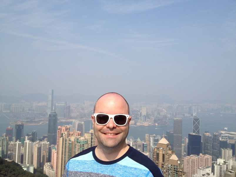We spent some time on the weekend exploring Victoria Peak.  I was jetlagged and didn't want any photos take - but Braden looks happy!  Note: still long sleeve weather