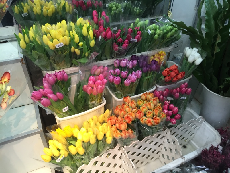The first tulips we have seen in Hong Kong!