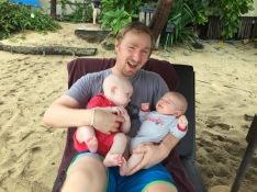 Thai Bri was all smiles at the beach.