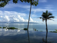 Our resort's infinity pool in all its glory.