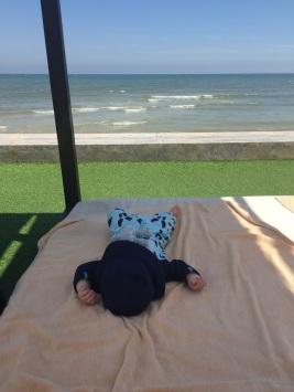 A lazy little beachfront nap.