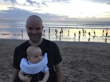 Campbell's first bali sunset.