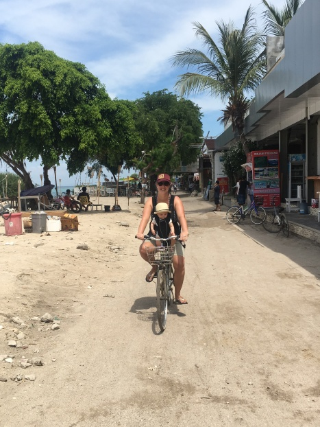 Loved riding the quiet streets on Gili T.