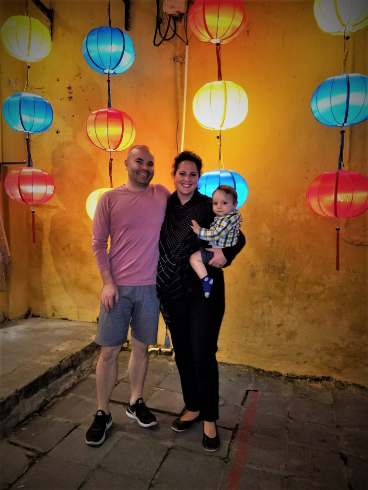 A rare family photo of us, proving we did all go to Hoi An together!