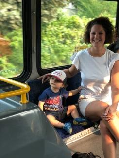 Riding the bus...what fun!
