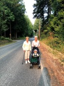 Three generations (four if you count my shadow)!