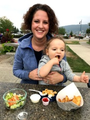 Mama loved the fish, Campbell loved the fries!