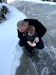 Very unsure about touching snow
