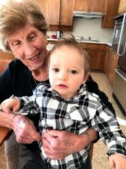 Fleeting snuggle with my Gran-ma