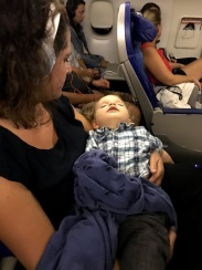 Reluctantly asleep in my arms returning from Bali