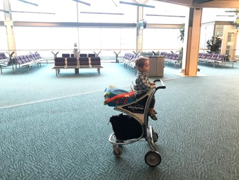 Taking in the YVR sights