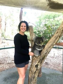 Meeting a koala!